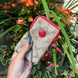 Coach phone/card holder